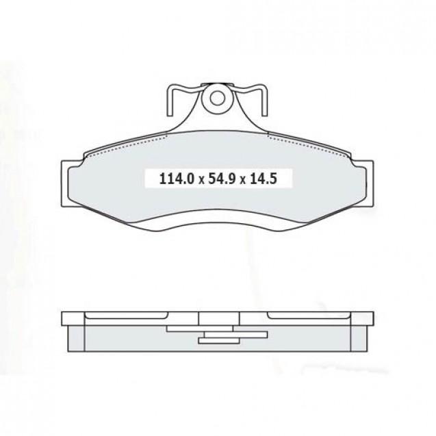 Glober Колодки тормозные дисковые передние/ Chevrolet Epica