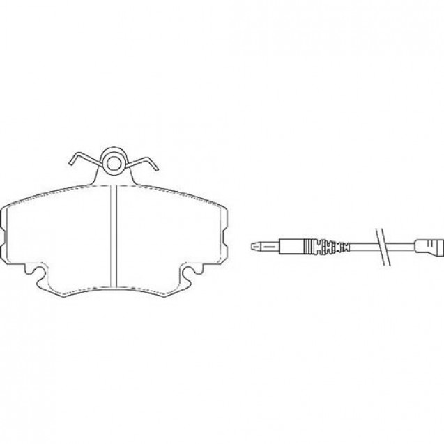 Glober Колодки тормозные дисковые передние/DACIA  LOGAN