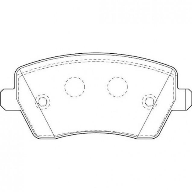 Glober Колодки тормозные дисковые передние/ DACIA  LOGAN Express