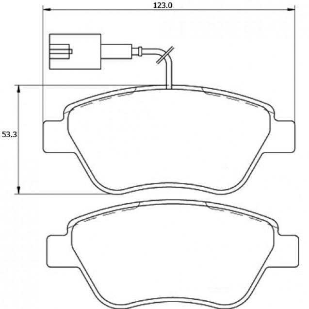 Glober Колодки тормозные дисковые передние/ Fiat 500