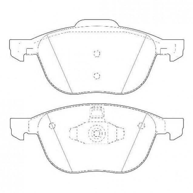 Glober Колодки тормозные дисковые передние/ Ford C-MAX