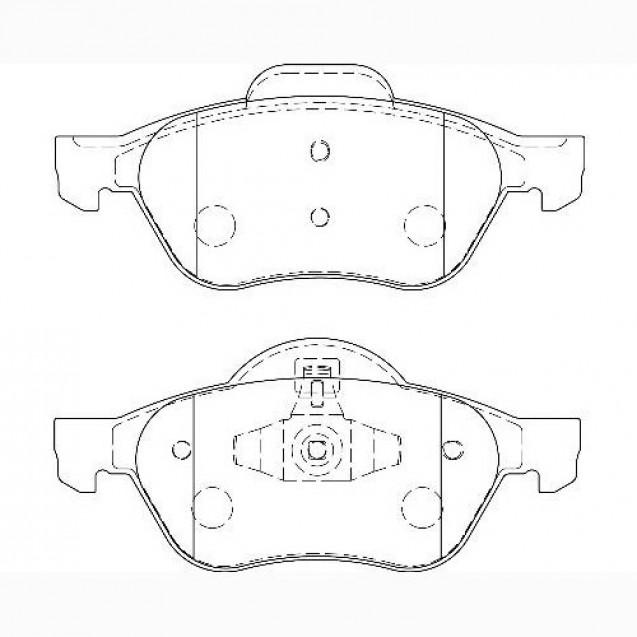 Glober Колодки тормозные дисковые/ Renault Megane II