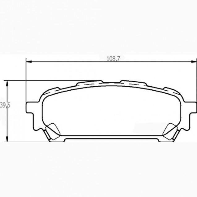 Glober Колодки тормозные дисковые/ Subaru Forester