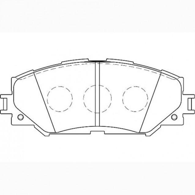 Glober Колодки тормозные дисковые/ Toyota Auris