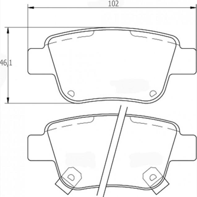 Glober Колодки тормозные дисковые/ Toyota Avensis