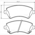 Glober Колодки тормозные дисковые/ Toyota Corolla