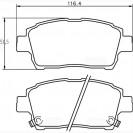 Glober Колодки тормозные дисковые/ Toyota Yaris Verso
