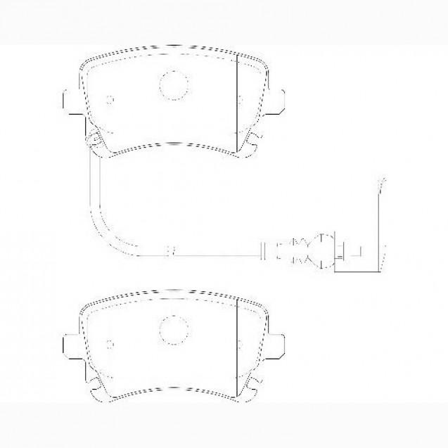 Glober Колодки тормозные дисковые/ VW Multivan