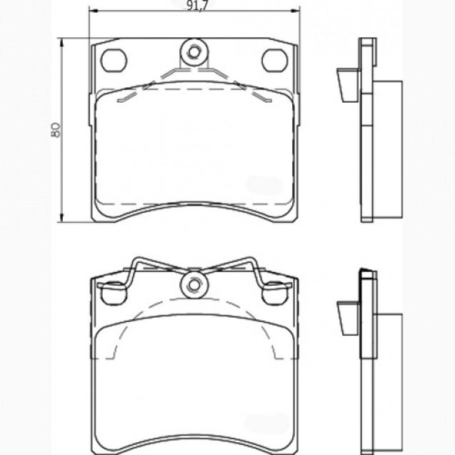 Glober Колодки тормозные дисковые/ VW Transporter IV