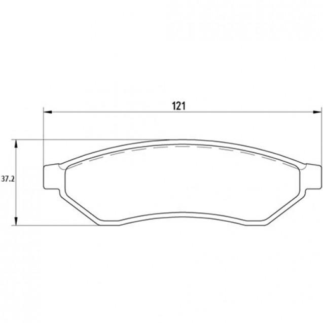 Glober Колодки тормозные дисковые задние/ Chevrolet Epica