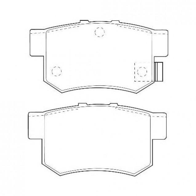 Glober Колодки тормозные дисковые задние/ Fiat Sdici