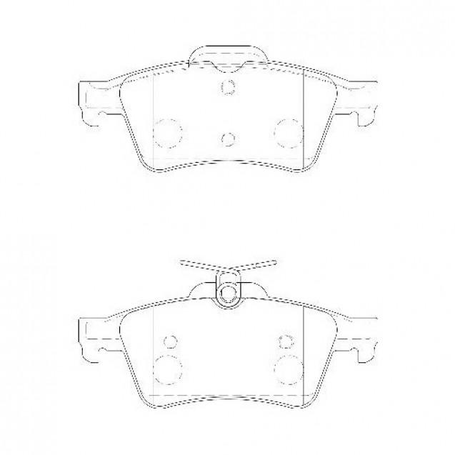 Glober Колодки тормозные дисковые задние/ Ford C-MAX