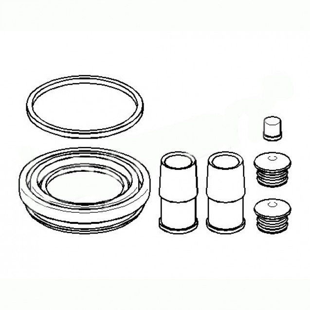 Glober Ремкомплект переднего суппорта/ Audi 100
