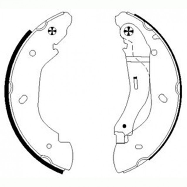 Glober Тормозные колодки барабанные/ Ford Transit