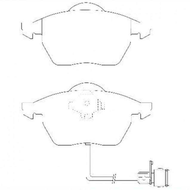 Glober Тормозные колодки дисковые/ Audi 100