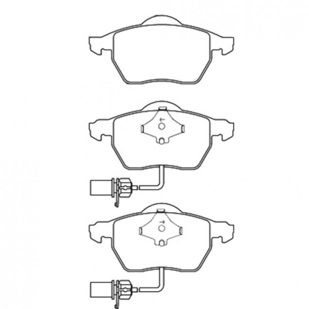 Glober Тормозные колодки дисковые/ Audi A4