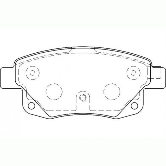 Glober Тормозные колодки дисковые/ Ford Transit