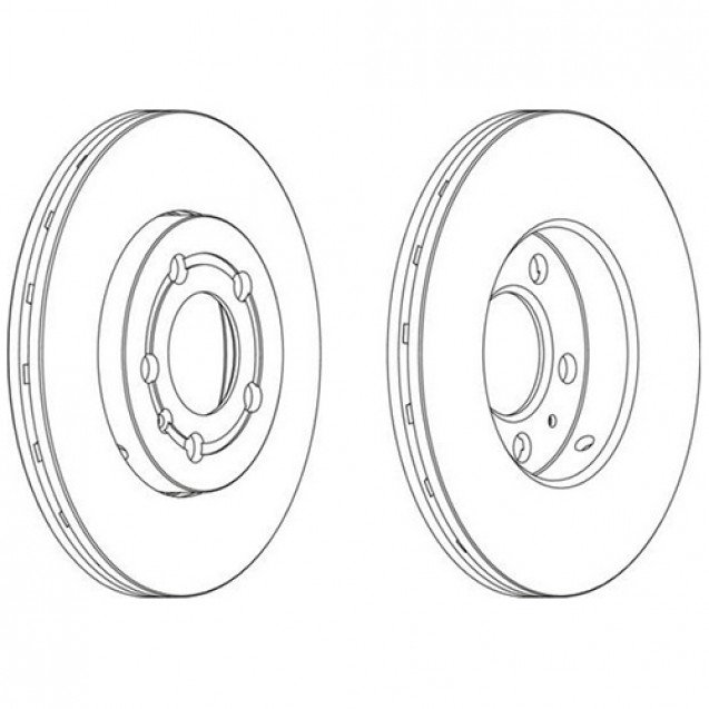 Glober Тормозной диск передний/ Audi A1