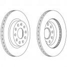 Glober Тормозной диск передний/ Audi A3