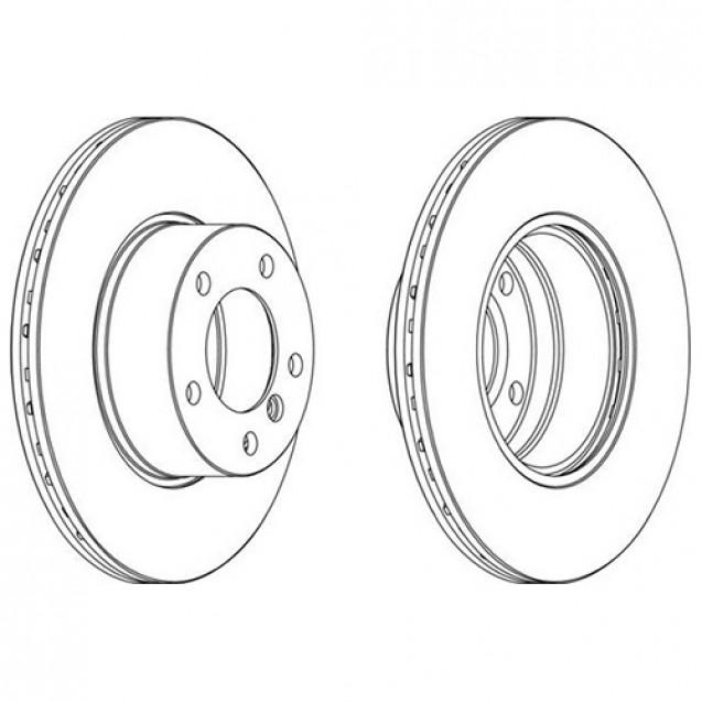Glober Тормозной диск передний/ BMW 5 (E39)