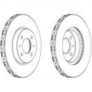 Glober Тормозной диск передний/ Citroen Nemo