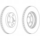 Glober Тормозной диск передний/ Fiat Scudo Combinato