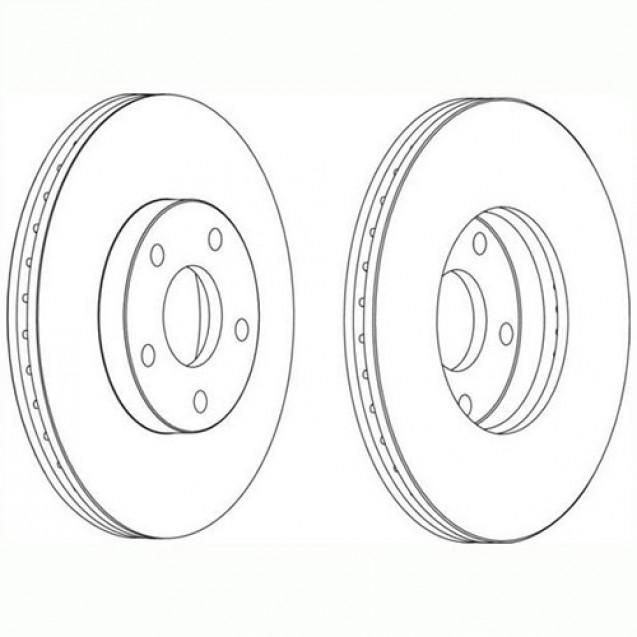 Glober Тормозной диск передний/ Ford Tourneo Connect