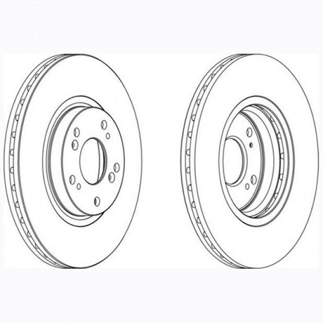 Glober Тормозной диск передний/ Honda Accord VIII Tourer