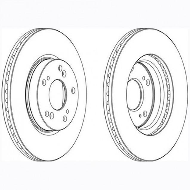 Glober Тормозной диск передний/ Honda FR-V