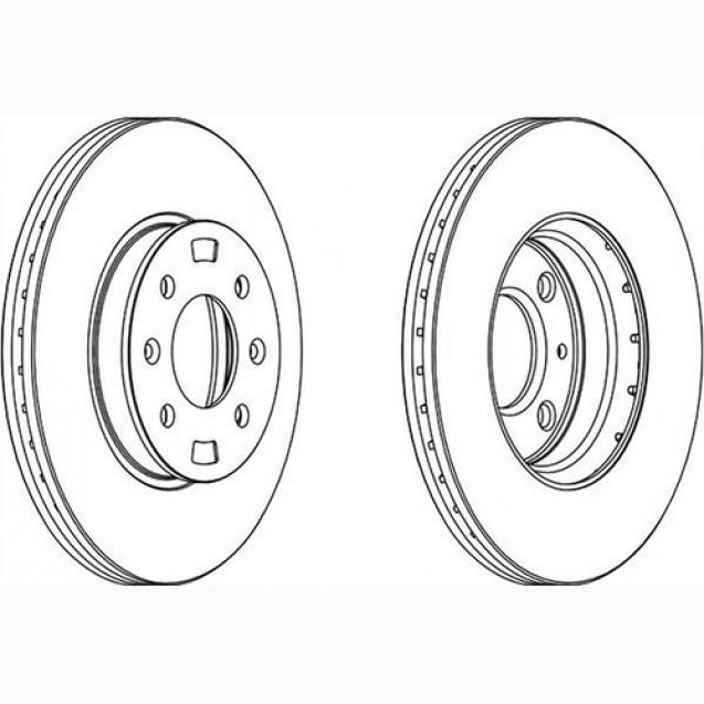Glober Тормозной диск передний/ Hyundai Accent III