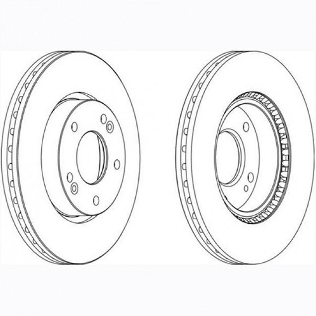 Glober Тормозной диск передний/ Hyundai Coupe