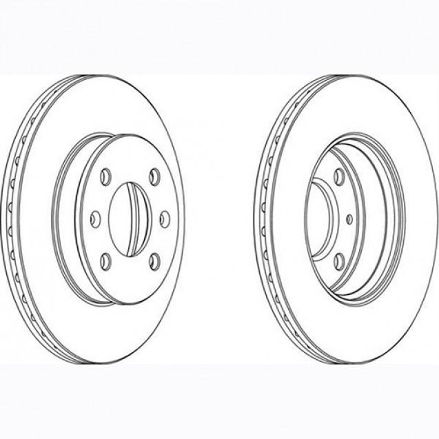 Glober Тормозной диск передний/ Hyundai Getz