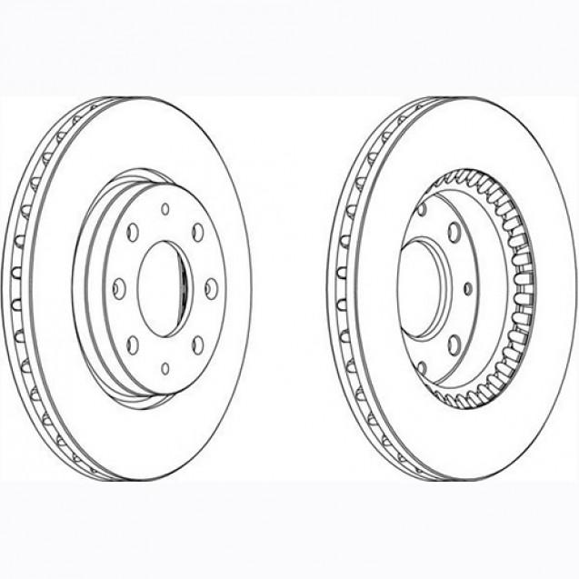 Glober Тормозной диск передний/ KIA Cerato