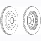 Glober Тормозной диск передний/ LADA 110