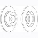 Glober Тормозной диск передний/ LADA 1200-1500