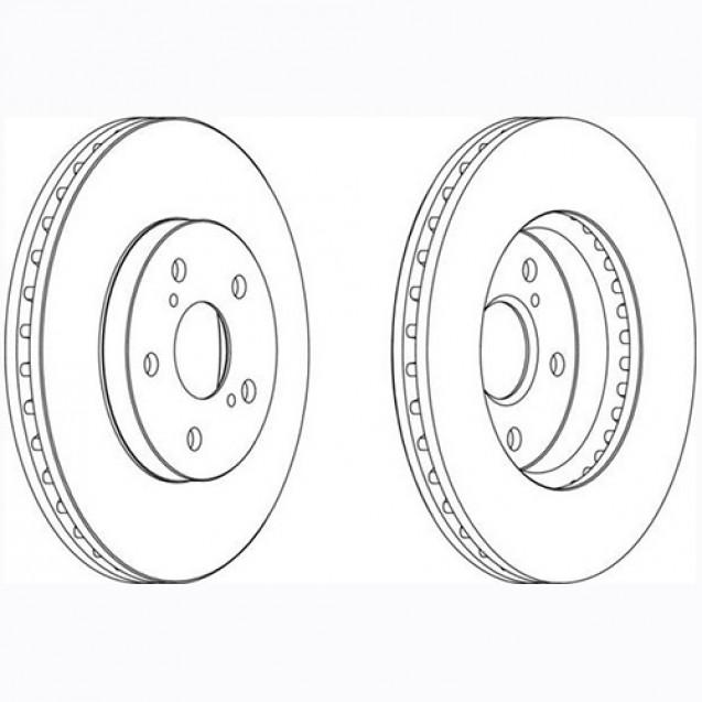 Glober Тормозной диск передний/ Lexus ES