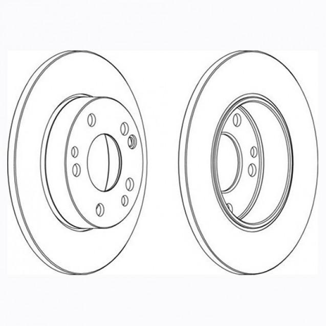 Glober Тормозной диск передний/ Mercedes-Benz 190