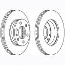 Glober Тормозной диск передний/ Mercedes-Benz Sprinter 3.5-T
