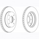 Glober Тормозной диск передний/ Nissan 200SX