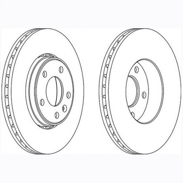 Glober Тормозной диск передний/ Nissan Primastar