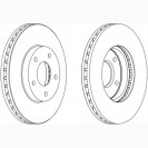 Glober Тормозной диск передний/ Nissan X-Trail