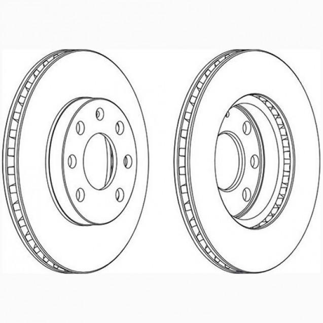 Glober Тормозной диск передний/ Opel Astra F