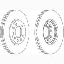 Glober Тормозной диск передний/ Opel Astra G