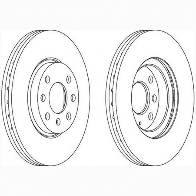 Glober Тормозной диск передний/ Opel Combo