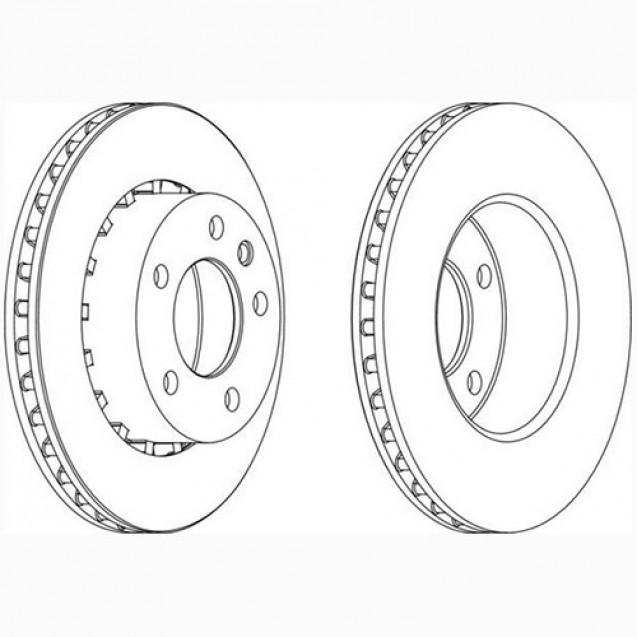 Glober Тормозной диск передний/ Opel Omega A