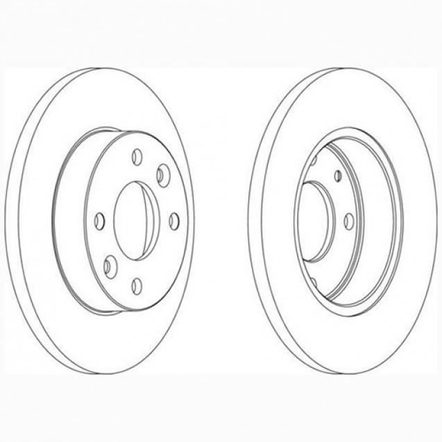 Glober Тормозной диск передний/ Renault 11