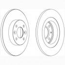 Glober Тормозной диск передний/ Renault Twingo