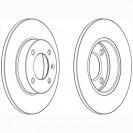 Glober Тормозной диск передний/ Seat Cordoba