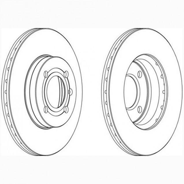 Glober Тормозной диск передний/ Seat Toledo