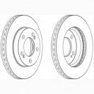 Glober Тормозной диск передний/ SsangYong Rexton W